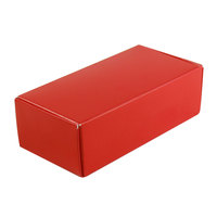 5 1/2 inch x 2 3/4 inch x 1 3/4 inch 1-Piece 1/2 lb. Red Candy Box - 250 / Case