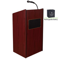 Oklahoma Sound M6010-MY Mahogany Finish Aristocrat Lectern with Sound and Rechargeable Battery