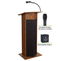 Oklahoma Sound M111PLS-MO/LWM-5 Medium Oak Power Plus with Sound, Wireless Handheld Microphone, and Rechargeable Battery