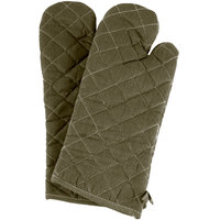 Choice 17 inch Flame-Retardant Oven Mitts - 2/Pack