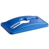 Rubbermaid 1788372 Slim Jim Blue Recycling Bin Lid with Mixed Recycle Slot