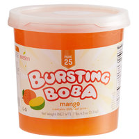 Bossen 7.26 lb. Pure25 Mango Bursting Boba - 4/Case