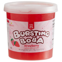Bossen 7.26 lb. Pure25 Strawberry Bursting Boba - 4/Case