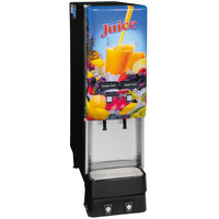Bunn 37900.0044 JDF-2S Silver Series Two Flavor Cold Beverage System with Lighted Juice Graphic and Remote Dispense Switch
