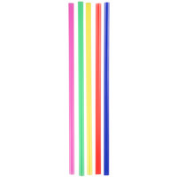 Choice 7 3/4 inch Jumbo Neon Unwrapped Soda Straw - 10,000 / Case