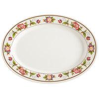 GET M-4030-TR Tea Rose 12 1/4 inch x 8 3/4 inch Oval Melamine Platter - 12/Pack
