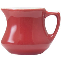 Hall China 30195W326 Scarlet 3.5 oz. Empire Creamer - 24/Case
