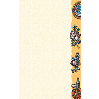 8 1/2 inch x 14 inch Menu Paper - Seafood Themed Buffet Design Right Insert - 100/Pack