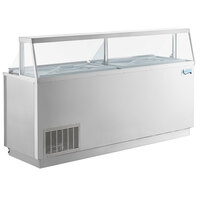 Avantco CPSS-88-HC 88 3/4 inch 16 Tub Stainless Steel Deluxe Ice Cream Dipping Cabinet