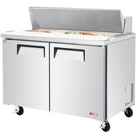 Turbo Air EST-48-N E-line 48 1/4 inch 2 Door Refrigerated Sandwich Prep Table