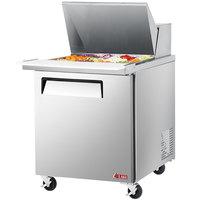 Turbo Air EST-28-12-N6 E-line 27 1/2 inch 1 Door Mega Top Refrigerated Salad Prep Table
