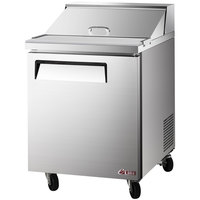 Turbo Air EST-28-N6 E-line 27 1/2 inch 1 Door Refrigerated Sandwich Prep Table