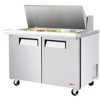 Turbo Air EST-48-18-N E-line 48 1/4 inch 2 Door Mega Top Refrigerated Salad Prep Table