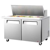 Turbo Air EST-60-24-N E-line 60 1/4 inch 2 Door Mega Top Refrigerated Salad Prep Table