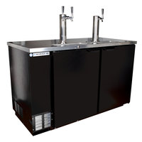 Beverage-Air DD58HC-1-B 1 Single and 1 Double Tap Kegerator Beer Dispenser - Black, (3) 1/2 Keg Capacity