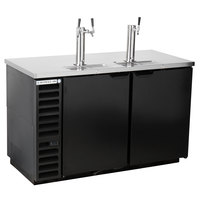 Beverage-Air DD58HC-1-B 1 Single and 1 Double Tap Kegerator Beer Dispenser - Black, (3) 1/2 Keg Capacity