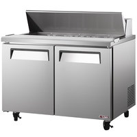 Turbo Air EST-60-N E-line 60 1/4 inch 2 Door Refrigerated Sandwich Prep Table