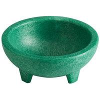 Choice Thermal Plastic 4 oz. Green Molcajete Bowl - 4/Pack