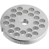 Avantco MG2248 #22 Stainless Steel Grinder Plate for MG22 Meat Grinder - 3/8 inch