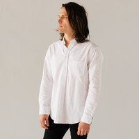 Stock Mfg. Co. Men's White Long Sleeve Oxford Shirt - Size 2XL