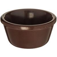 Carlisle S28069 3 oz. Smooth Chocolate Brown Melamine Ramekin - 48/Case