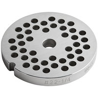 #22 Stainless Steel Flat Grinder Plate - 1/4 inch