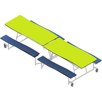 National Public Seating MCTB12-PWPECR 12' Plywood Mobile Cafeteria Table with Chrome Frame and ProtectEdge