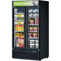 Turbo Air TGF-35SD Black 40 inch Super Deluxe Glass Door Merchandising Freezer