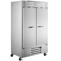 Beverage-Air FB44HC-1S 47 inch Vista Series Two Section Solid Door Reach-In Freezer - 44 cu. ft.