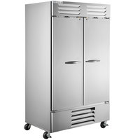 Beverage-Air RB44HC-1S 47 inch Vista Series Two Section Solid Door Reach-In Refrigerator - 44 cu. ft.