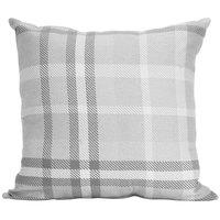 Astella TP24-FA32 Pacifica Tartan Charcoal Lounge Throw Pillow