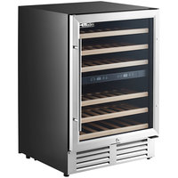AvaValley WRC-46-DZ Single Section Dual Temperature Full Glass Door Wine Refrigerator