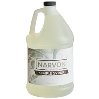 Narvon 1 Gallon Simple Syrup Beverage Concentrate - 4/Case