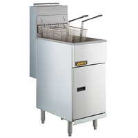 Anets 40AS Silver Economy Series Natural Gas 40-45 lb. Tube Fired Fryer - 107,000 BTU