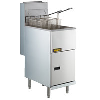 Anets 45AS Silver Economy Series Natural Gas 40-45 lb. Tube Fired Fryer - 122,000 BTU