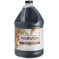 Narvon 1 Gallon Old Fashioned Root Beer Beverage Concentrate   - 4/Case