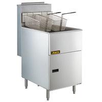 Anets 70AS Silver Economy Series Liquid Propane 65-80 lb. Tube Fired Fryer - 150,000 BTU