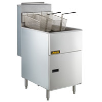 Anets 70AS Silver Economy Series Natural Gas 65-80 lb. Tube Fired Fryer - 150,000 BTU