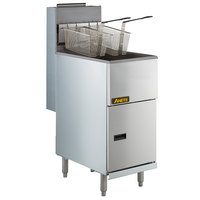 Anets 35AS Silver Economy Series Natural Gas 40-45 lb. Tube Fired Fryer - 90,000 BTU