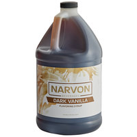 Narvon 1 Gallon Dark Vanilla Syrup - 4/Case