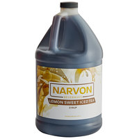 Narvon 1 Gallon Lemon Sweet Iced Tea Beverage Concentrate - 4/Case