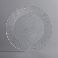 The Jay Companies 1470459 13 inch Fusion Clear Glass Charger Plate