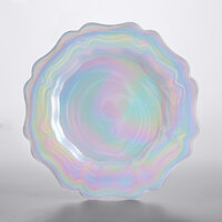 The Jay Companies 1470462 13 inch Alabaster Glass Scalloped Charger Plate