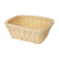 GET WB-1506-N 9 1/2 inch x 7 3/4 inch x 3 1/2 inch Designer Polyweave Natural Rectangular Basket - 12 / Case