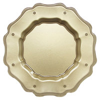 The Jay Companies 1470448 13 inch Mariloo Gold Glass Scalloped Charger Plate