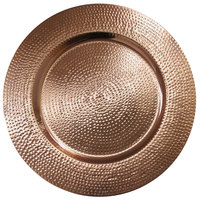 The Jay Companies 1810199-4 13 inch Copper Metal Hammered Charger Plate