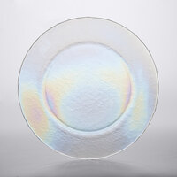 The Jay Companies 1470455 13 inch Luster Clear Glass Charger Plate