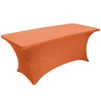 Snap Drape BS630414 Budget Stretch 72 inch x 30 inch Orange Spandex Table Cover