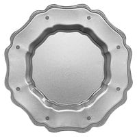 The Jay Companies 1470449 13 inch Mariloo Gray Glass Scalloped Charger Plate