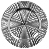 The Jay Companies 1270594-4 13 inch Silver Polypropylene Electroplated Charger Plate